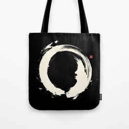 Black Enso / Japanese Zen Circle Tote Bag