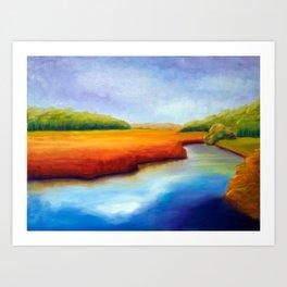 River Marsh Art Print