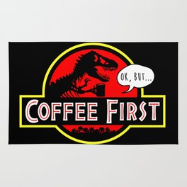 coffee first Rug