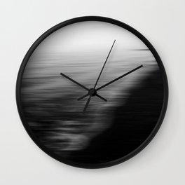 Flood. Abstract seascape. Wall Clock
