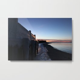 Frozen Sunset Metal Print