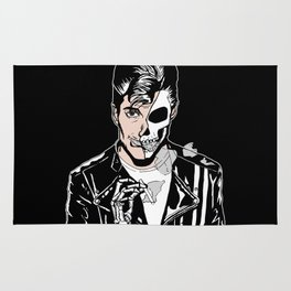 Alex Turner Skull Art by zombieCraig Rug