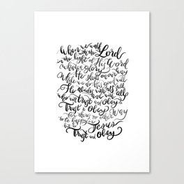 Trust and Obey - Hymn - BW Canvas Print