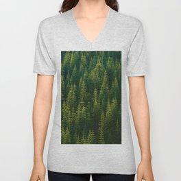 The Green Forest (Color) Unisex V-Neck