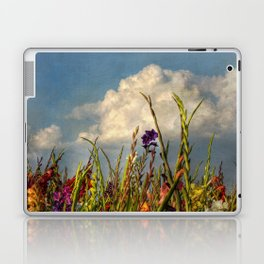 colored swords - field of Gladiola flowers Laptop & iPad Skin