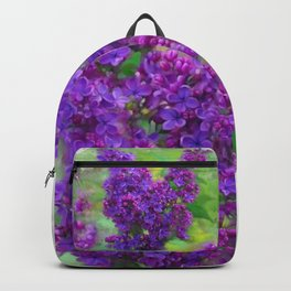 Watercolor Lilac Backpack