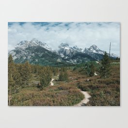 Trail to the Mountains, Grand Teton National Park Canvas Print