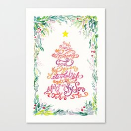 Christmas Tree - 1 John 5:11 Canvas Print