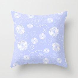 White Spirals Throw Pillow