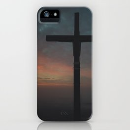 Watcher's Cross of Naszály mountain iPhone Case