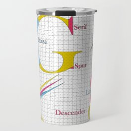 Typography Travel Mug