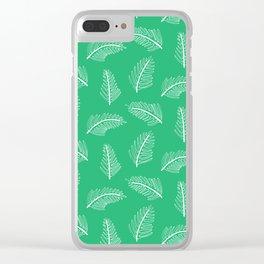 Friendly Ferns Green Clear iPhone Case