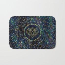 Aries Zodiac Gold Abalone on Constellation Bath Mat