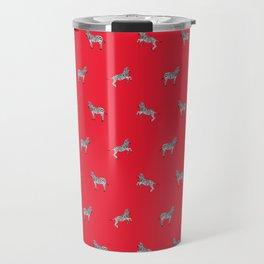 Red Zebras Travel Mug