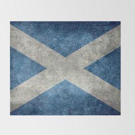 Scottish Flag - Vintage Retro Style Throw Blanket