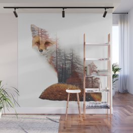 Misty Fox Wall Mural