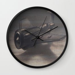 Old airplane 3 Wall Clock