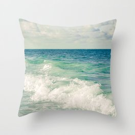 Tropical Beach Bliss Throw Pillow