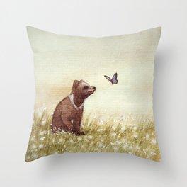 Cottongrass Field Throw Pillow