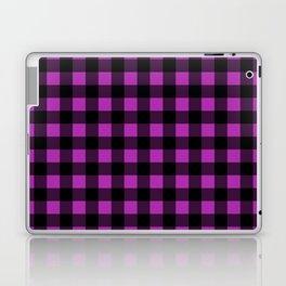 Plaid (Black & Purple Pattern) Laptop & iPad Skin