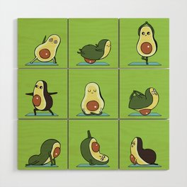 Avocado Yoga Wood Wall Art