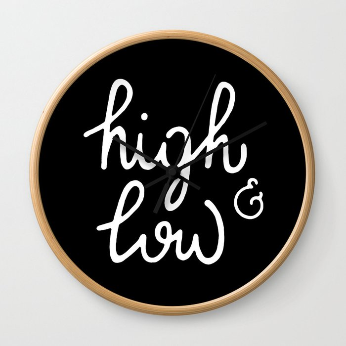 high & low #2 Wall Clock