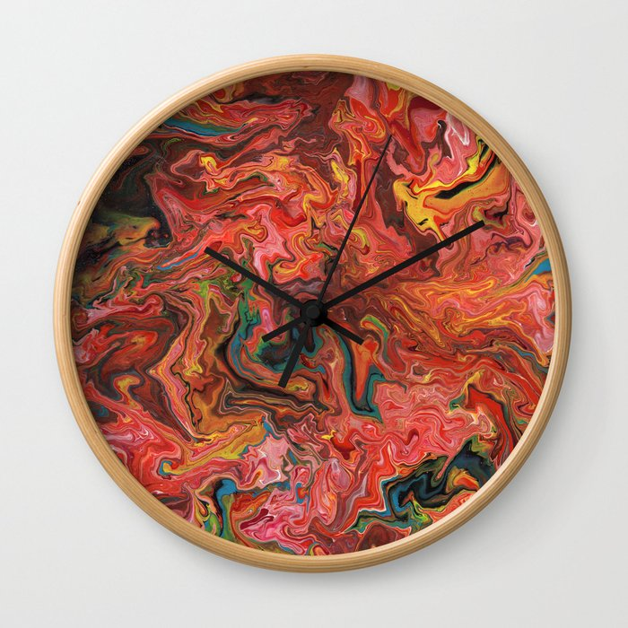 Abstract Oil Painting 3 Wall Clock