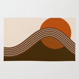 Cocoa Sundown Stripes Rug