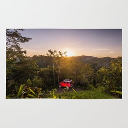 Land Cruisin' in Costa Rica Rug