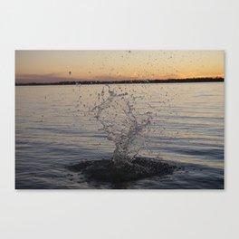 Waco Water Splash Canvas Print
