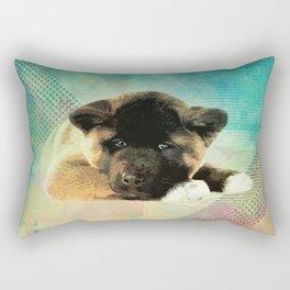 American Akita Puppy Rectangular Pillow