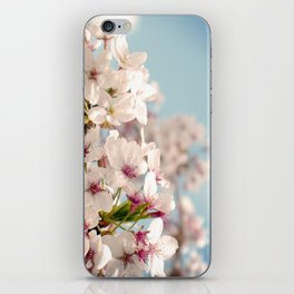 Spring, Flower Photography, Pastel, Pink, Romantic Cherry Blossom, Art Deco - 8 x 10 Wall Decor iPhone Skin
