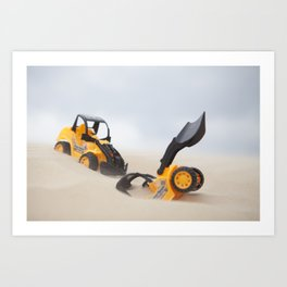 Two Tractors in Sand Art Print