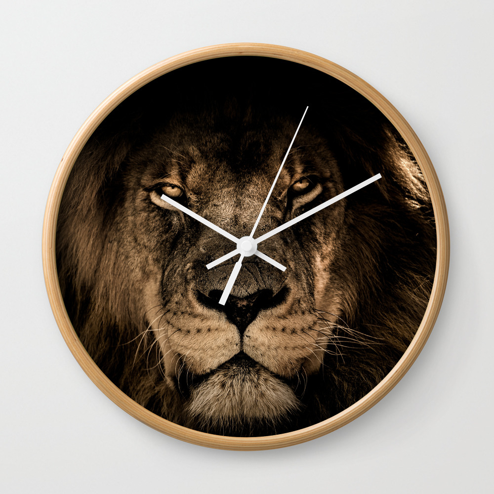 The Lion Wall Clock by Ramdhancaesar CLK9050520