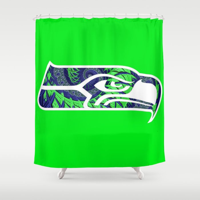 SeaHawks Fractal Shower Curtain