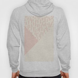 Modern geometrical ivory pink color block paint brushstrokes Hoody