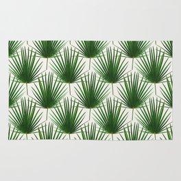 Simple Palm Leaf Geometry Rug