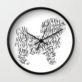 Shih Poo Shih Tzu Wall Art Shitzu Sticker Shihtzu Art Wall Clock