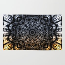 Touch of golden glow Rug