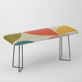 shapes of mid century geometry art Bench