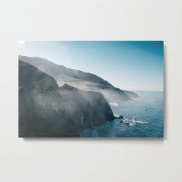 Sea Mist on the Big Sur Metal Print
