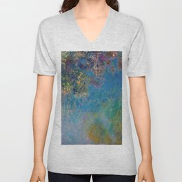 Wisteria by Claude Monet Unisex V-Neck