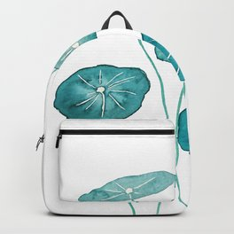 whorled umbrella plant leaf watercolor Backpack