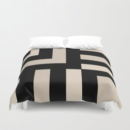 Black and Tan Duvet Cover
