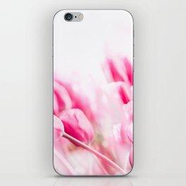 Pink tulips iPhone Skin