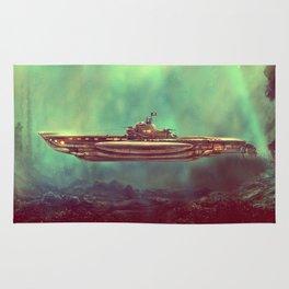 Golden Pirate Submarine Rug