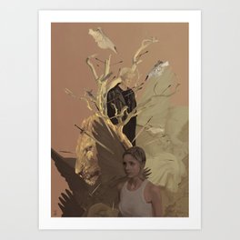 The Lion. Art Print
