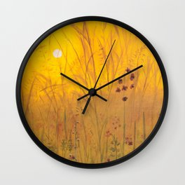 Yellow Sunset Wall Clock