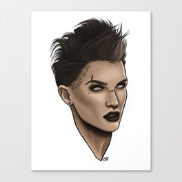 Ruby Rose Inspo Canvas Print