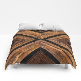 Urban Tribal Pattern 3 - Wood Comforters